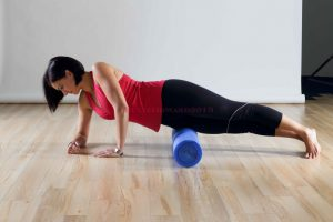 Corrective exercise for tight hips using a foam roller