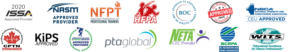 AAHF programs are approved by these certification organizations (updated 6/2/2020)
